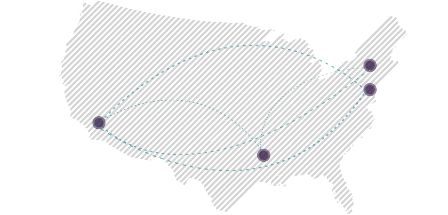Map with points