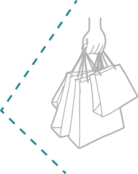shopping bag outline icon